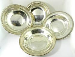 Group of 4 Sterling Dishes