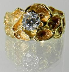 Beautifully Textured Diamond Nugget Ring