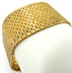 High End Incredible 1.25in Wide Bracelet, Solid 18KT