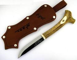Reindeer Stag Handle Steel Blade Knife