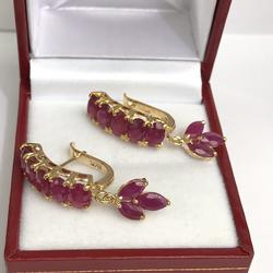 Stunning Gold and Ruby Earrings