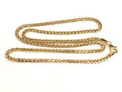 18kt Yellow Gold Wheat Chain
