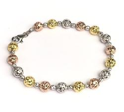 18kt Multi Colored Gold Bracelet