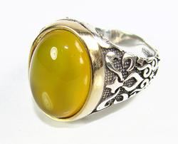 Sophisticated & Attractive Large GEM 925 S Gents Ring