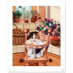 Adorable Cat Lithograph Limited Edition & Hand Signed
