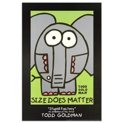 Size Does Matter-Funny Todd Goldman Litho Poster