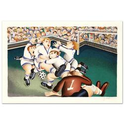 Yuval Mahler Hand Signed Lithograph-Soccer