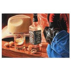 Nobu Hairara Cowboy Giclee on Canvas, certified!