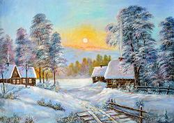 PHENOMENAL NIKOLAY KURSHEV ORIGINAL WINTER SCENE