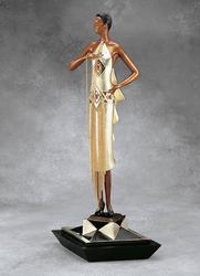 Collectible Erte Original Bronze, Cafe Society