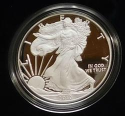 2010 PROOF Silver Eagle, original Mint box