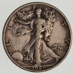 1921 Walking Liberty Half Dollar- Circulated