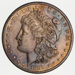 1889-CC Morgan Silver Dollar- Near Uncirculated