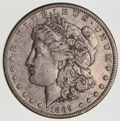 1889-CC Morgan Silver Dollar- Circulated