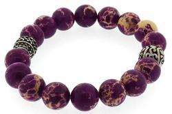 Purple Natural Imperial Jasper Bracelet