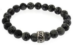 Black and Grey Gemstone Bracelet