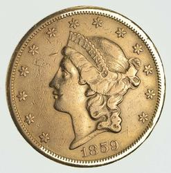 1859-S $20.00 Liberty Gold Double Eagle