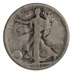 1921-D Walking Liberty Half Dollar - Circulated