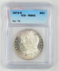 1879-S Morgan Silver Dollar Rev. '78 - ICG MS65
