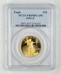 PR69DCAM 1991 $25.00 Gold Eagle - PCGS Graded