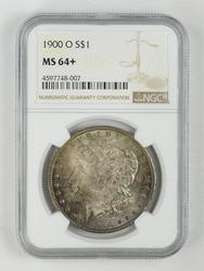 MS64+ 1900-O Morgan Silver Dollar - NGC Graded