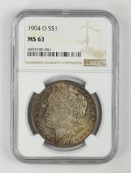 MS63 1904-O Morgan Silver Dollar - NGC Graded