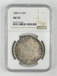 AU53 1886-O Morgan Silver Dollar - NGC Graded
