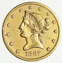 1867-S $10 Liberty Gold Eagle - Very Rare