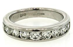 Diamond Channel Set Band in Platinum