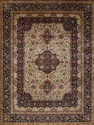 Amazingly Detailed Rare Authentic Handmade Persian-Pak Tabriz Estate Rug