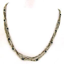 Liquid Silver and Hematite Necklace