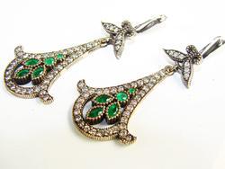 Elegant Antique Design Beautiful Gems 925 SS Earrings