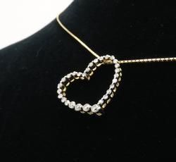 Diamond Heart Shaped Pendant