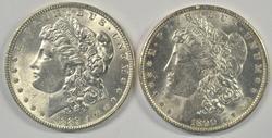 Very Choice BU 1889-P & 1890-P Morgan Silver Dollars