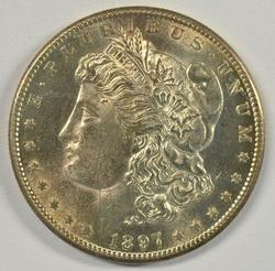 Great-looking BU 1897-S Morgan Silver Dollar. Nice