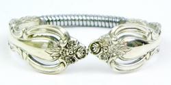Vintage Deep Silver Child's Spoon Bracelet