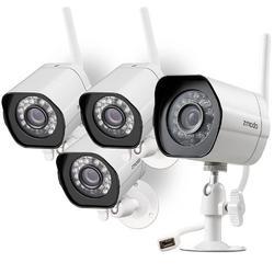 Smart Wireless Indoor/Outdoor Security Camera 4-Pack