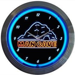 Man Cave 15-inch Neon Wall Clock