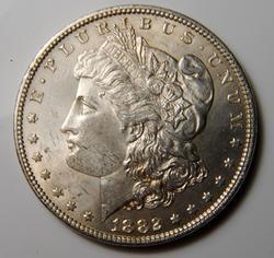 AU/BU Slider Morgan Dollar 1882