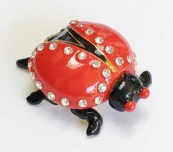 Whimsical Ladybug 'Trinket Box' Quality Enamel Collectible