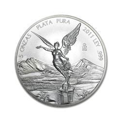 Mexican Silver Libertad 5 Ounce 2011