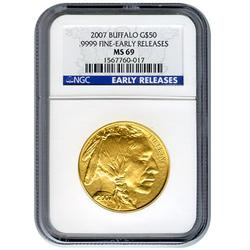 Certified Uncirculated Gold Buffalo 2007 MS69 Early Release NGC