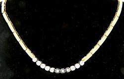 Simple & Elegant Diamond Bezel Necklace in 14kt Gold