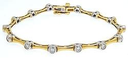 2.5ctw Diamond Station Bracelet