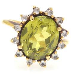 Peridot & Sapphire Ring
