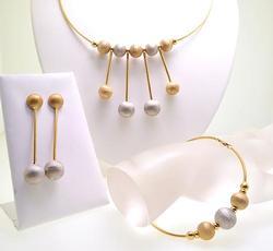Original Art Deco 18KT Gold Jewelry Set