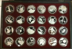 Republic of Marshall Islands $50 Silver Proof set 24pc