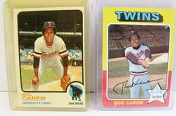 2 Rod Carew, Twins Topps Baseball Cards