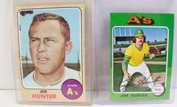 2 Jim Hunter, A's Topps Baseball Cards