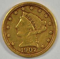 Pleasing 1907 US $2.50 Liberty Gold Piece